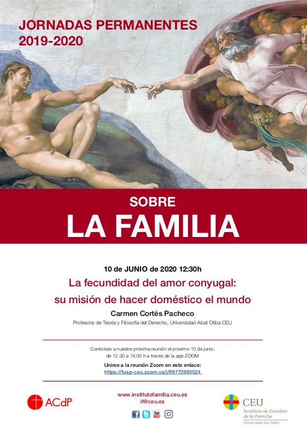 5ª sesión Jornadas online sobre la Familia