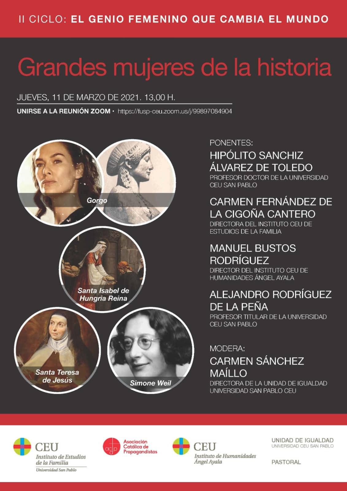 II Ciclo: Grandes Mujeres de la Historia